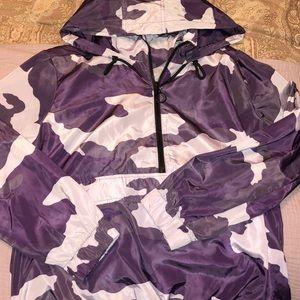 Purple camo windbreaker